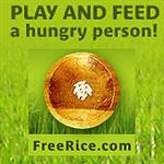 Just by reviewing your French, you earn rice which is donated to people around the globe.